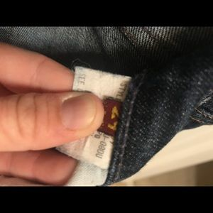 7 for all mankind distressed bootcut jean size 29